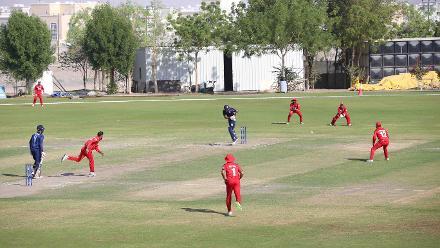 Oman v USA, 11th Match, ICC World Cricket League Division Three at Al Amarat, Nov 16 2018