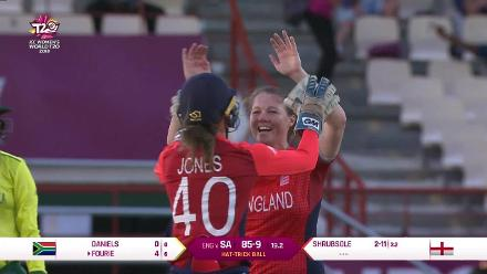 ENG v SA: Anya Shrubsole completes hat-trick with Yolani Fourie wicket