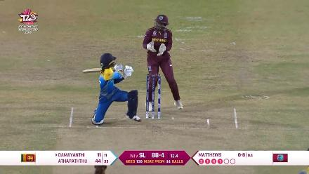 WI v SL: Damayanthi falls for a run-a-ball 11