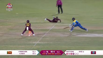 WI v SL: Direct hit from Connell ends Kumari's short stay at the crease