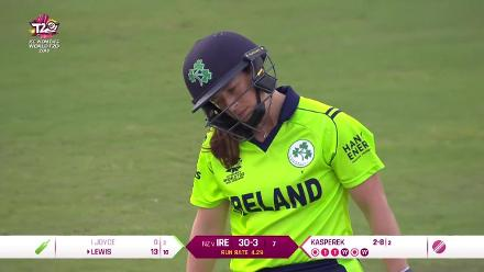 NZ v IRE: Isobel Joyce trapped in front for a duck