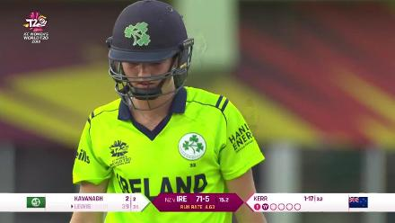 NZ v IRE: Ireland wickets