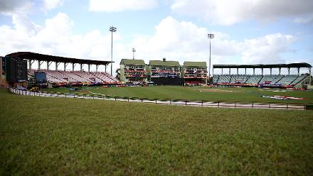 General stadium view during the ICC Women's World T20 2018 match between India and Australia at Guyana National Stadium on November 17, 2018 in Providence, Guyana.