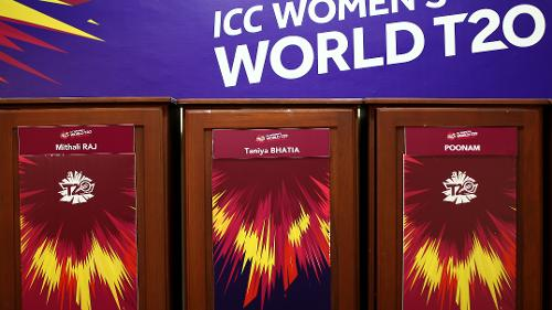General view of the India dressing room during the ICC Women's World T20 2018 match between India and Australia at Guyana National Stadium on November 17, 2018 in Providence, Guyana.