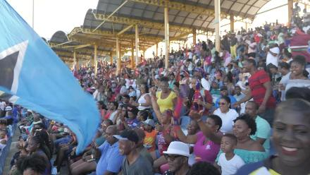 WI v ENG: Windies fans celebrate the win