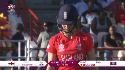 WI v ENG: Amy Jones goes for eight