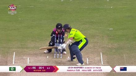 NZ v IRE: Clare Shillington falls for 12 in her final innings