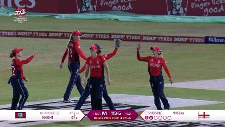 WI v ENG: Campbelle goes to an excellent Wyatt catch