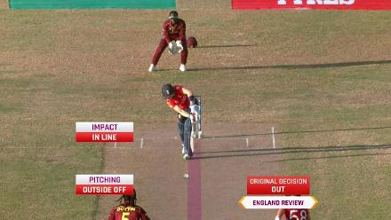 WI v ENG: Heather Knight lbw for six