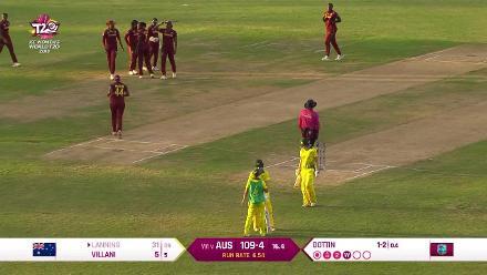 WI v AUS: Meg Lanning bowled by a Deandra Dottin rocket