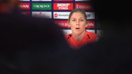 Heather Knight, Captain of England during the ICC Women's World T20 Final 2018 - Previews at the Sir Vivian Richards Stadium on November 23, 2018 in Antigua, Antigua and Barbuda.