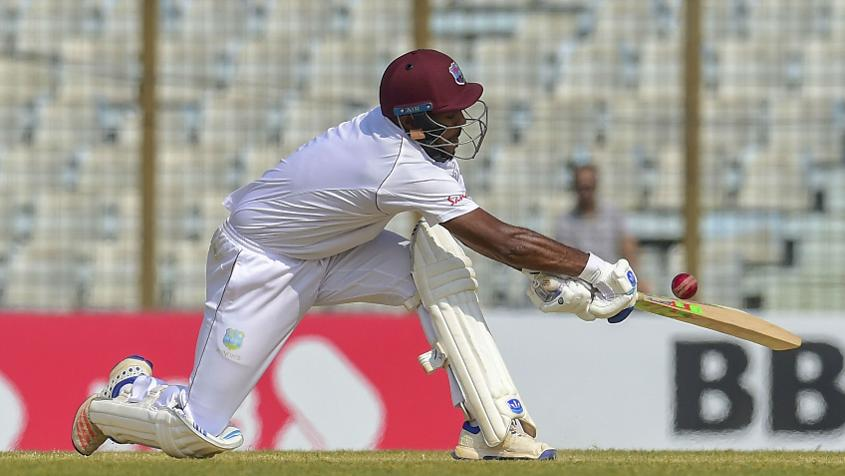 Sunil Ambris looked the most solid of the Windies batsmen