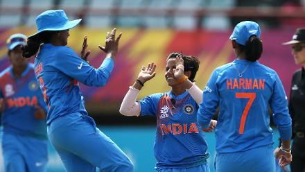NZ v IND: Jess Watkin falls to Poonam Yadav