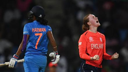 ENG v IND: Kirstie Gordon gets Harmanpreet Kaur for 16