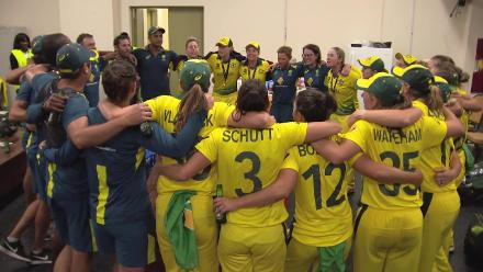 WT20: Australia sing team song post title-win