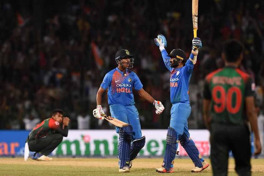 Karthik's eight-ball 29* in the final against Bangladesh helped India lift the Nidahas Trophy 2018 title