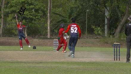 ICC U19 CWC Asia Qualifier Division 2:  Great catch by Nomaan Sidique behind the stumps