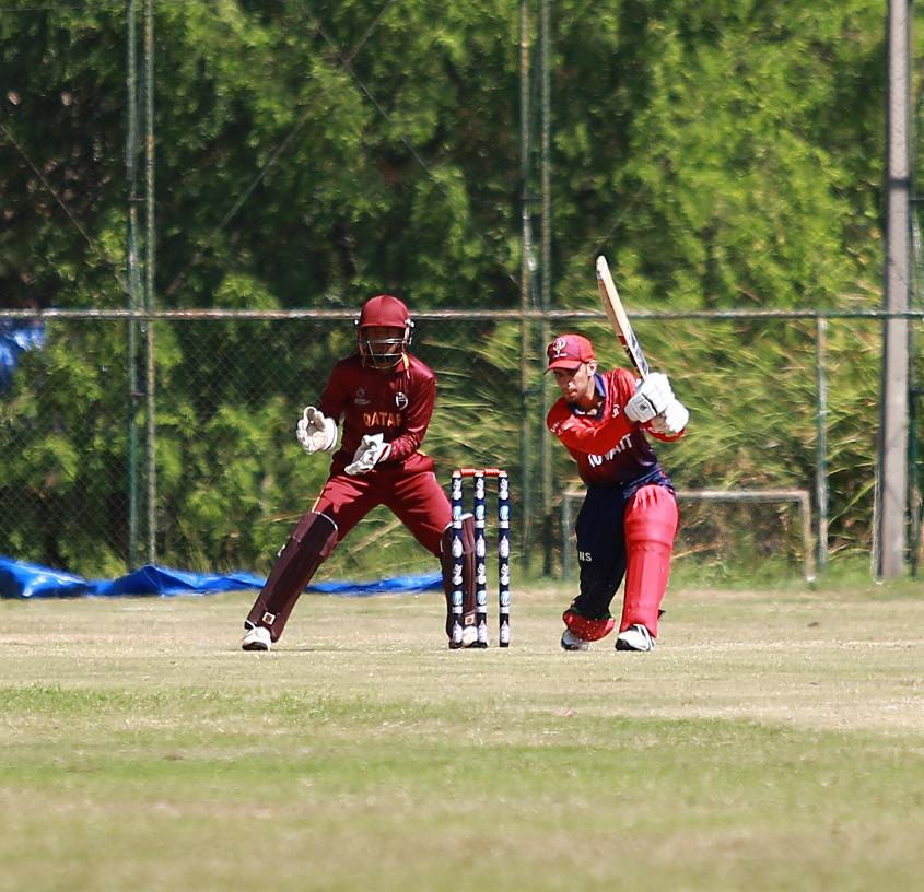 Nomaan Sidique made Qatar toil as he batted excellently for his 89