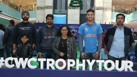 ICC CWC Trophy Tour driven by Nissan reaches Delhi
