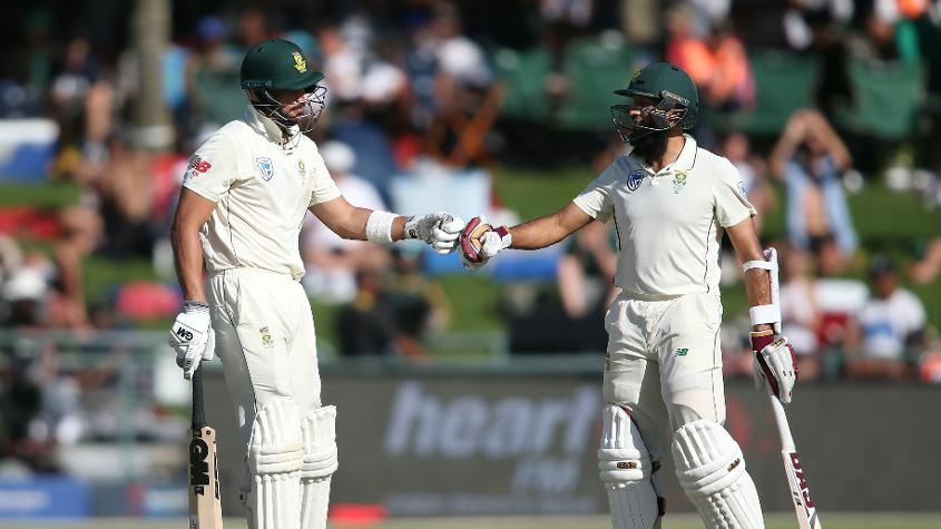 Markram and Amla added 126 runs for the second wicket