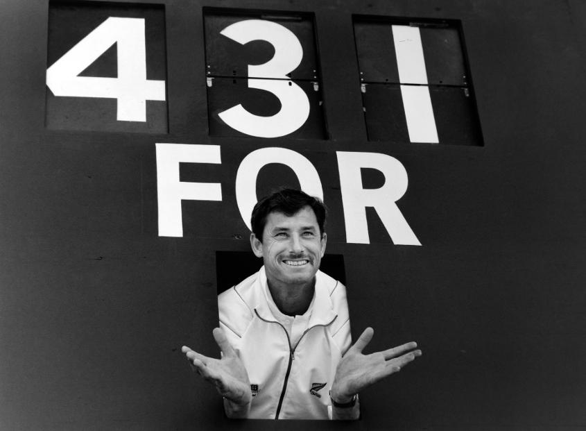 Richard Hadlee's match-haul of eight wickets in his final Test at Edgbaston took him to 431 wickets
