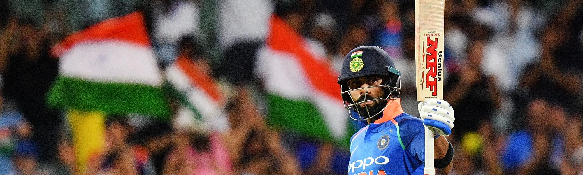Virat Kohli brought up his 39th ODI hundred for India, scoring 104 from 112 deliveries