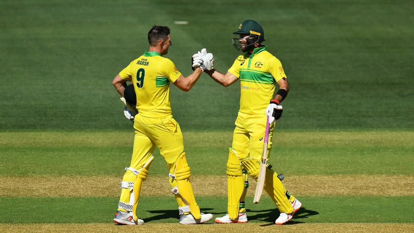 Shaun Marsh and Glenn Maxwell shared a 94-run stand for the sixth wicket