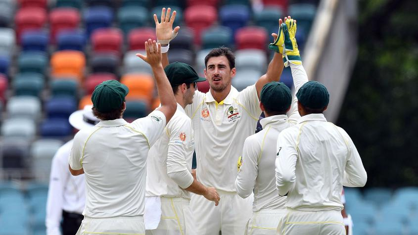 Mitchell Starc, who took 10 wickets in Canberra against Sri Lanka, also picked up an injury during the game