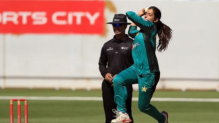 Aliya Riaz in her delivery stride