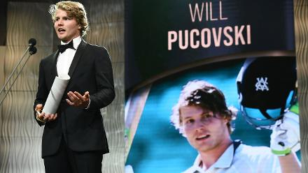 Will Pucovski claimed the Bradman Young Cricketer of the Year award