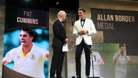 Pat Cummins was the recipient of the much-coveted Allan Border Medal