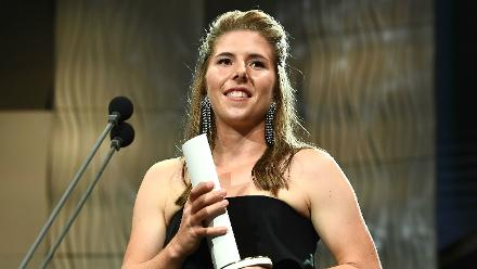 Georgia Wareham claimed the Betty Wilson Young Cricketer of the Year award