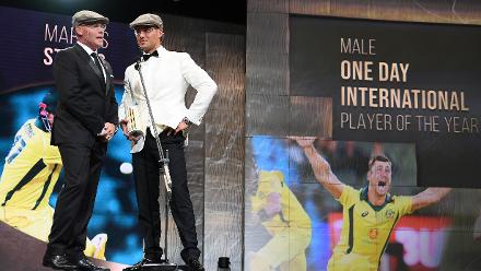 Marcus Stoinis was recognised as Australia's Men's One-Day International Player of the Year