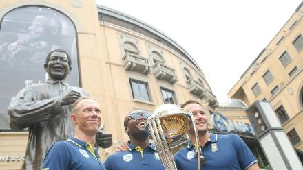 The ICC #CWCTrophyTour, driven by Nissan, lands in Johannesburg!