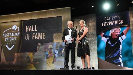 Cathryn Fitzpatrick was also inducted into the Hall of Fame during the 2019 Australian Cricket Awards