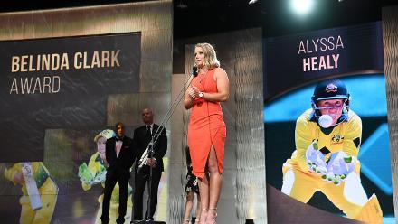 Alyssa Healy won the prestigious Belinda Clark Award