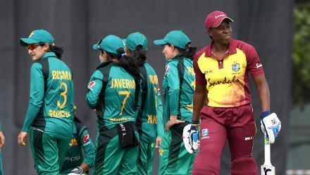 Pakistan Women celebrate a wicket