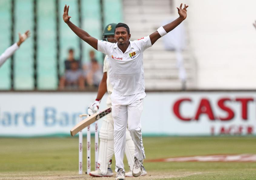 Vishwa Fernando played a key role in South Africa's implosion with the bat