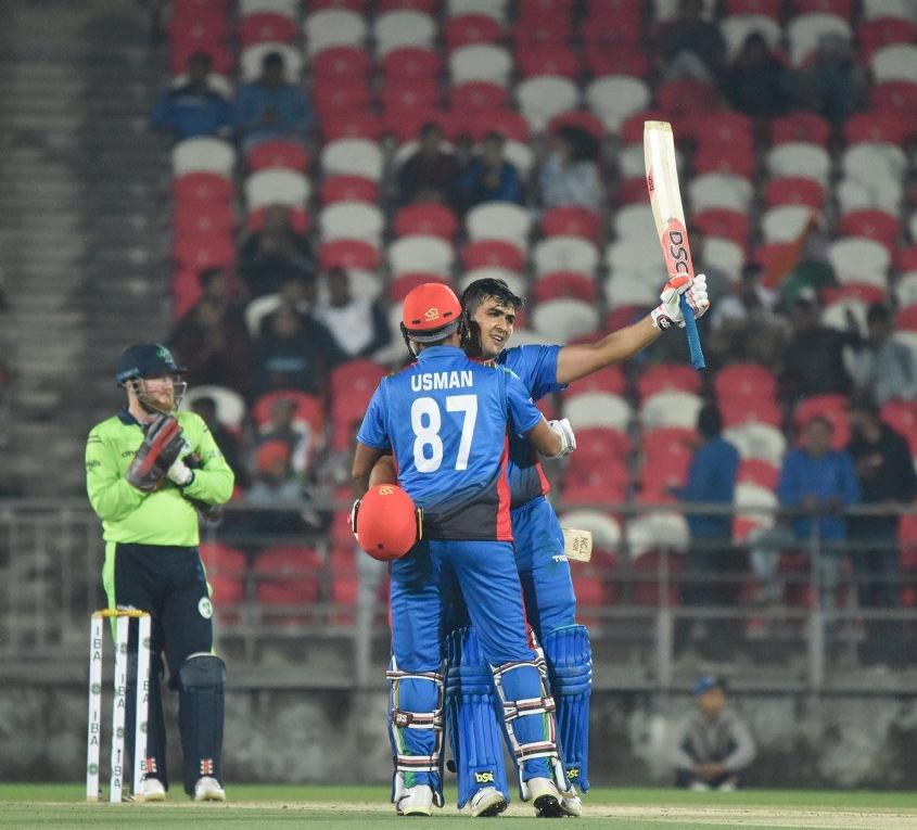 Hazratullah Zazai was relentless, hitting 27 boundaries