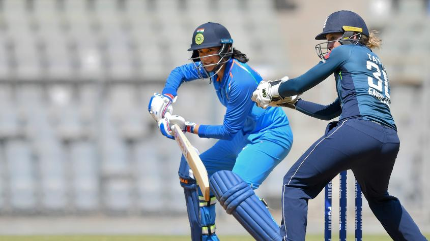 Smriti Mandhana starred with a 74-ball 63 for India. – Photo: AFP