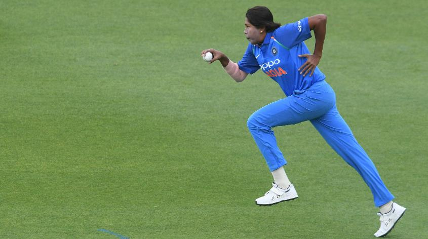 Goswami has 218 ODI wickets at an average of 21.34
