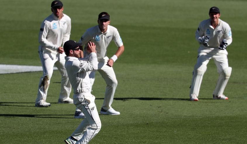Williamson takes a catch to send back Mohammad Mithun