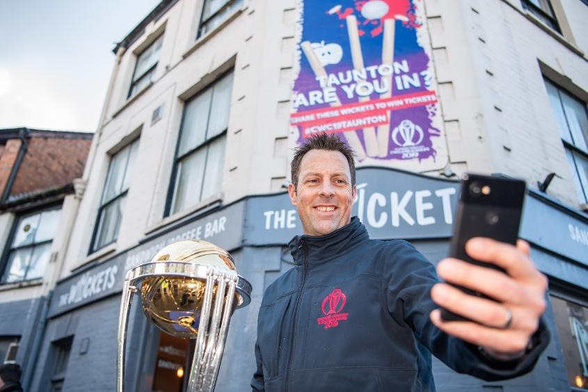 Former England opener Marcus Trescothick was at the launch of the mural