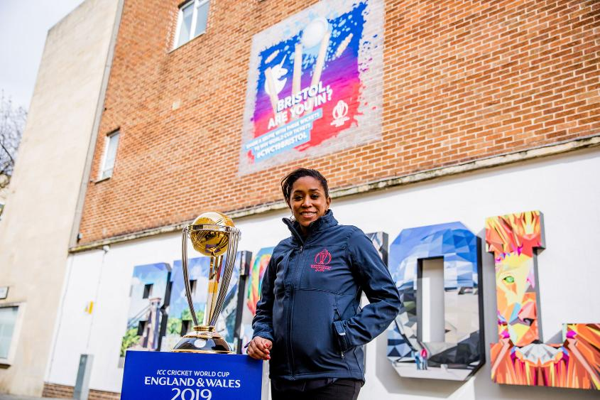 World Cup winner Ebony Rainford-Brent helped launch the mural