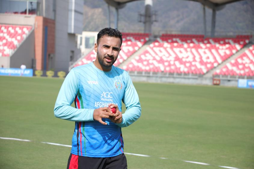 Sayed Shirzad offers a left-arm seam option
