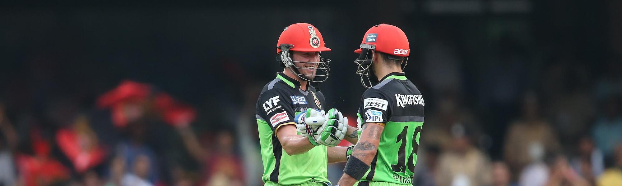 De Villiers scored 129* in 52 balls as he and Virat Kohli (109) added 229 runs together in an IPL 2016 match