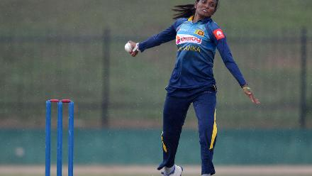 Inoshi Priyadharshani was the pick of the bowlers with returns of 3/45
