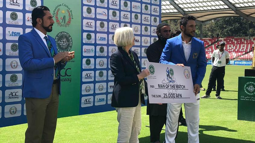 Rahmat Shah's fifties in both innings earned him the Player of the Match award