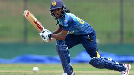 Harshitha Madhavi top-scored for the hosts with a 46-ball 42