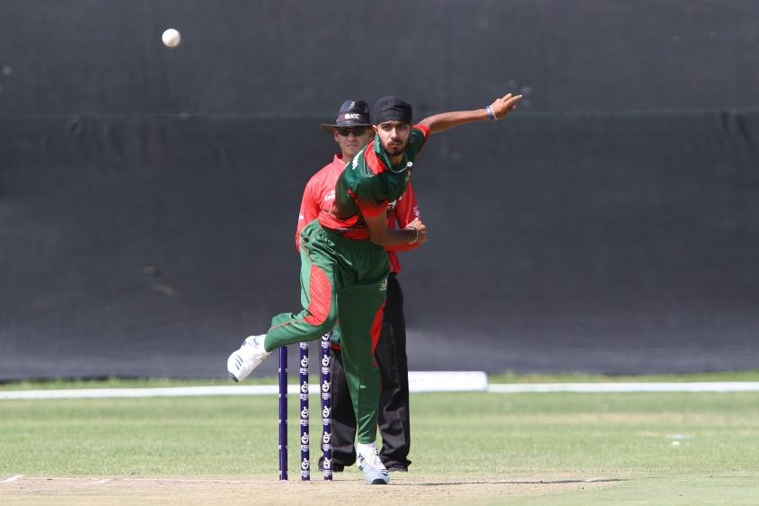 Sukhdeep Singh was Kenya's star bowler, returning 2/16 from his 10 overs